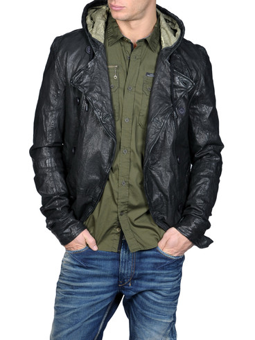 DIESEL - Leather jackets - LANDON 00EKI