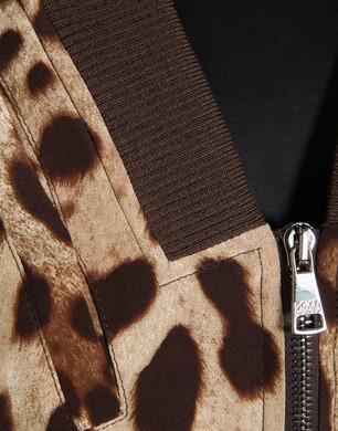 Crepe de chine leopard print jacket - Jackets - Dolce&Gabbana - Summer 2016