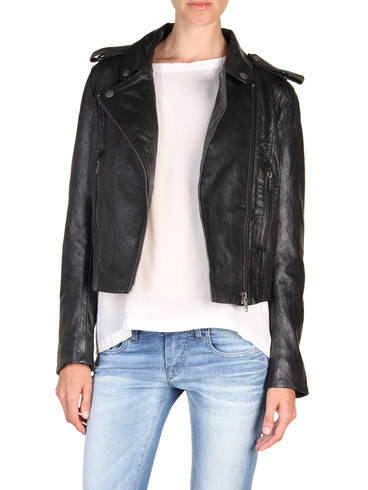 DIESEL - Leather jackets - L-MARLENE
