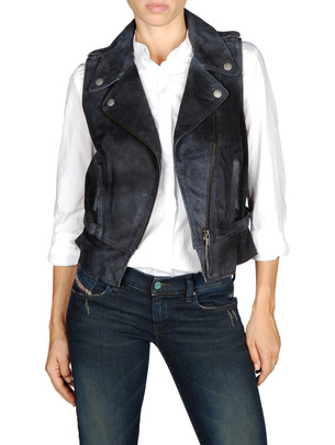 DIESEL Leather jackets - L-COLINE - Item 41301597