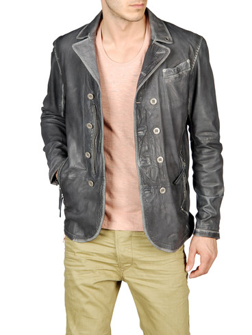 DIESEL - Leather jackets - LOFN