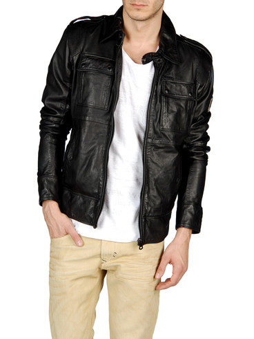 DIESEL - Leather jackets - LISARDO