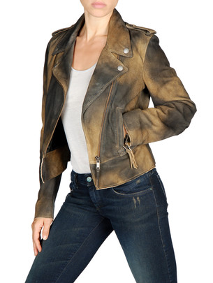 DIESEL Leather jackets - L-PREMISE - Item 41301684