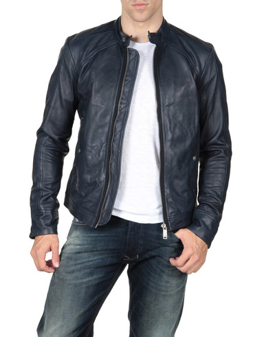 DIESEL - Leather jackets - LEIDE 00KXT