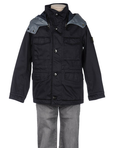 STONE ISLAND JUNIOR - Mid-length jacket
