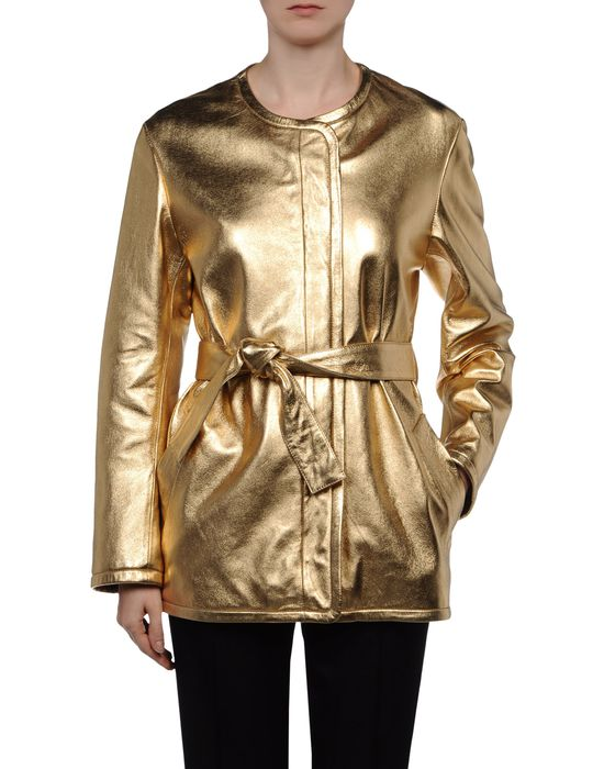 Gold Leather Jacket Womens | Outdoor Jacket