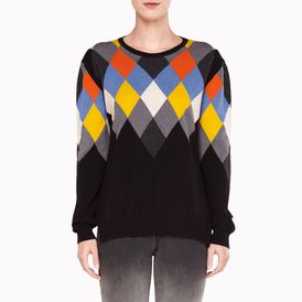 STELLA McCARTNEY, Round neck, Argyle Crew Neck Jumper
