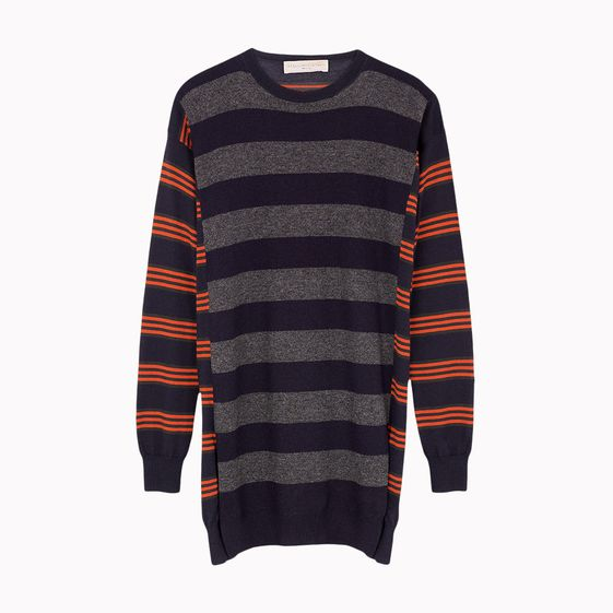 Stella McCartney, Patched Stripes Crew Neck Dress
