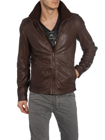 DIESEL - Leather jackets - LITERAL 00WNY