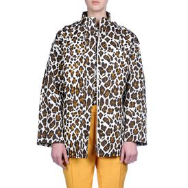 STELLA McCARTNEY, Mid, Voile Bonded Leopard Print Caddington Jacket