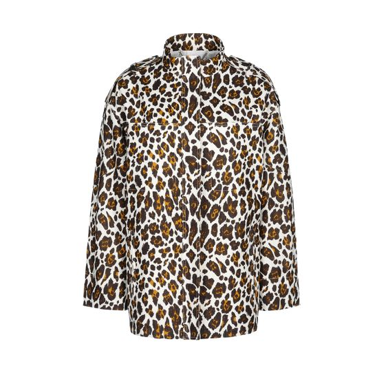 Stella McCartney, Caddington Jacket - Giacca in Voile con Stampa Leopardo