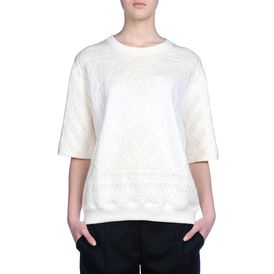 STELLA McCARTNEY, Sweater, Calico Jacquard Sweat Short Sleeved Sweater