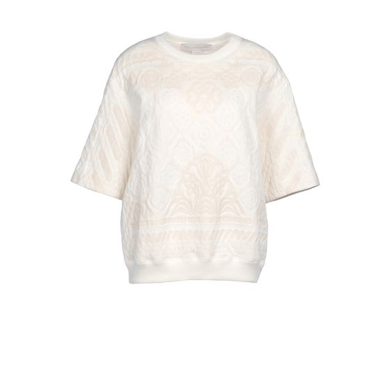 Stella McCartney, Calico Jacquard Sweat Short Sleeved Sweater