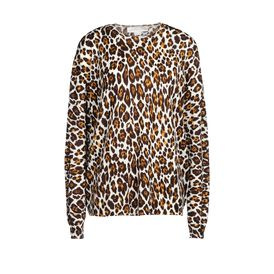 STELLA McCARTNEY, Sweater, Leopard Print Crew Neck Sweater
