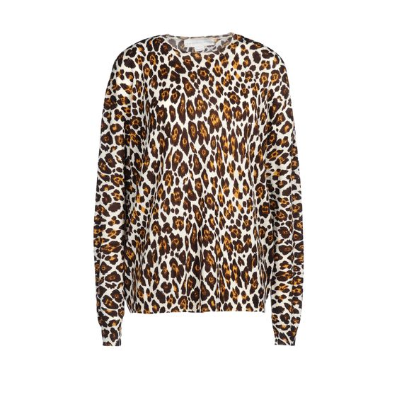 Stella McCartney, Leopard Print Crew Neck Sweater