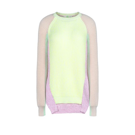Stella McCartney, Pull patchwork  col ras de cou