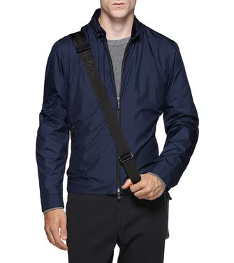 ERMENEGILDO ZEGNA: Fabric Jacket Dark blue - 41338360MO