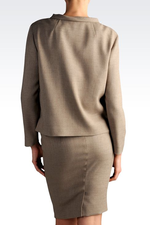 three-button jacket with asymmetric fastening: Three buttons jackets Women by Armani - 2