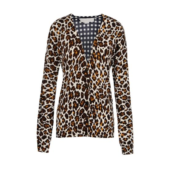 Stella McCartney, Cardigan in Lana con Scollo a V 