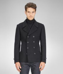 Coat or JacketReady to Wear100% Cashmere, HornBlue Bottega Veneta