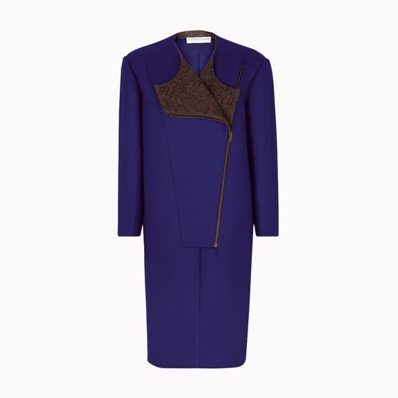 Stella McCartney, Cappotto con Zip Asimmetrica