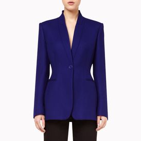 STELLA McCARTNEY, Blazer, Midnight Wool Twill Domiziana Jacket