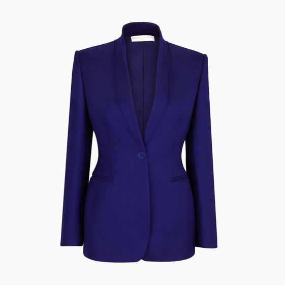 Stella McCartney, Mitternachtsblaue Jacke Domiziana aus Wolltwill