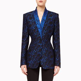 STELLA McCARTNEY, Blazer, Back Leaf Brocade Jacquard Domiziana Jacket