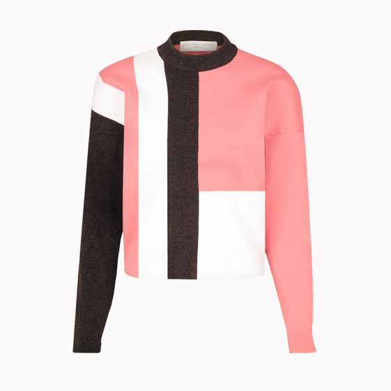Stella McCartney, Maglione Dolcevita Jockey Camelia Colorato