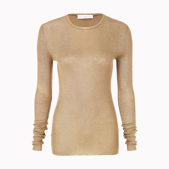 Stella McCartney, Metallic Gold Long Sleeved Top