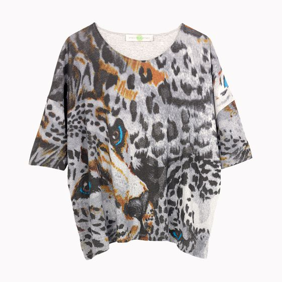 Stella McCartney, Organic Cotton Leopard Print T-Shirt