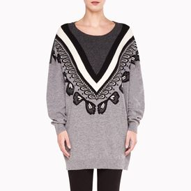 STELLA McCARTNEY, Round neck, Fairisle Cropped Crew Neck Dress