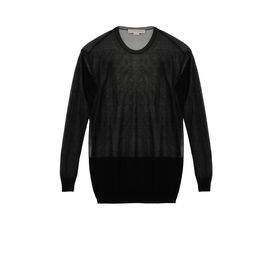 STELLA McCARTNEY, Sweatshirt, Pull au col ras de cou avec empiècement transparent