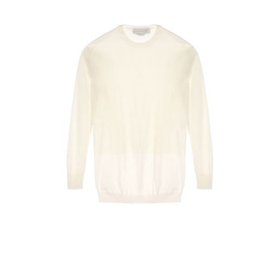 Stella McCartney, Pullover mit Rundhalsausschnitt und durchsichtigem Stoffeinsatz