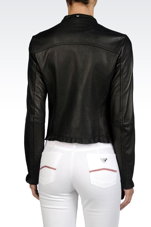 Armani Leather Jacket Women
