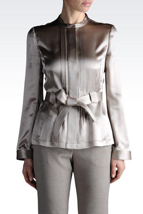 dinner jacket in silk with cummerbund: Dinner jackets Women by Armani - 1