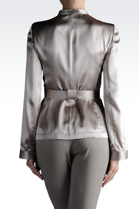 dinner jacket in silk with cummerbund: Dinner jackets Women by Armani - 2