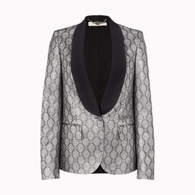 STELLA McCARTNEY, Blazer, Silver Silk Lurex Moore Jacket