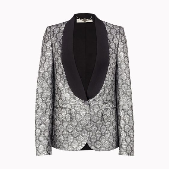 Stella McCartney, Silver Silk Lurex Moore Jacket
