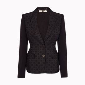 STELLA McCARTNEY, Blazer, Black Bonded Brocade Fellini Jacket