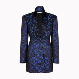 STELLA McCARTNEY, Blazer, Deep Egyptian Blue Back Silk Jacquard Tina Outerwear