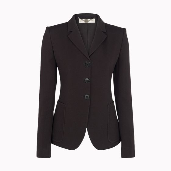 Stella McCartney, Black Spongy Sablé Arnold Jacket