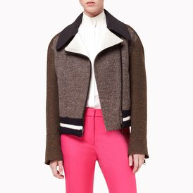 STELLA McCARTNEY, Blazer, Bark Multicolored Tweed Stretch Nathalie Jacket
