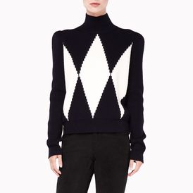 STELLA McCARTNEY, Roll Neck, Large Diamond Roll Neck Jumper