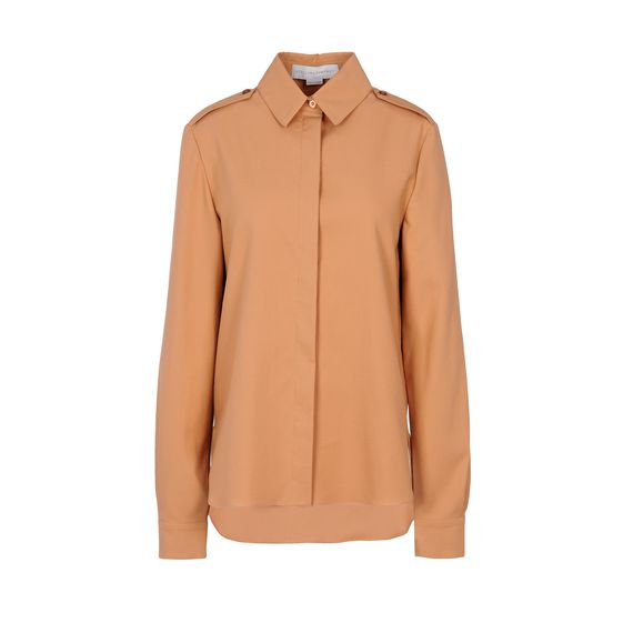 Stella McCartney, Hampstead Shirt - Camicia in Piquet Nude