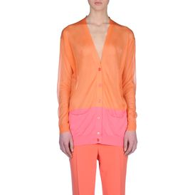 STELLA McCARTNEY, Cardigan, Transparent Insert V-Neck Cardigan