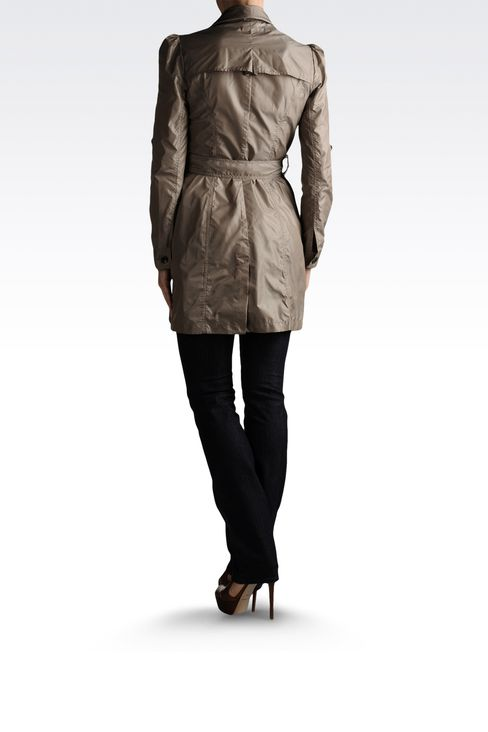 trench in waterproof technical fabric: Dust jackets Women by Armani - 3