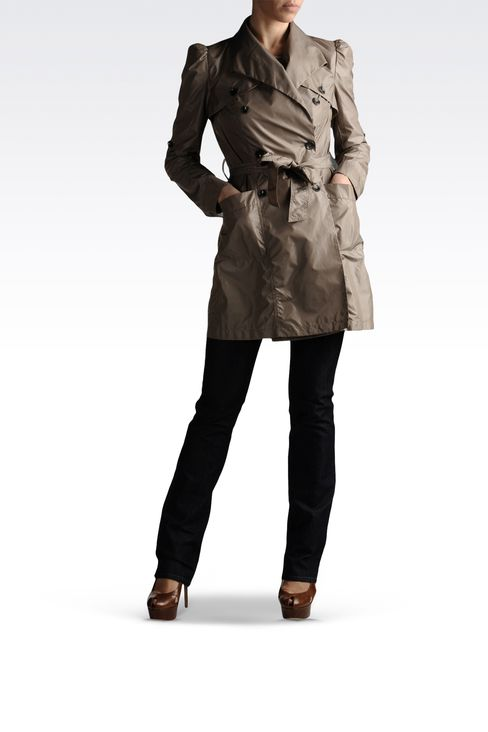 trench in waterproof technical fabric: Dust jackets Women by Armani - 2
