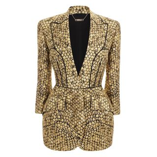 ALEXANDER MCQUEEN, Jacket, Honeycomb Jacquard Bombe Hip Jacket