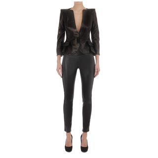 ALEXANDER MCQUEEN, Leather, Wing Peplum Leather Jacket